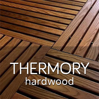 Thermory hardwood outdoor tiles