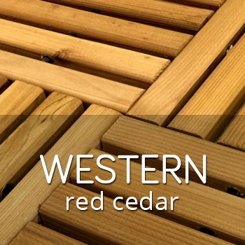 Western red cedar outdoor tiles