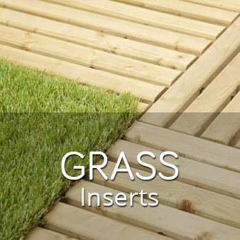 Synthetic grass tile inserts