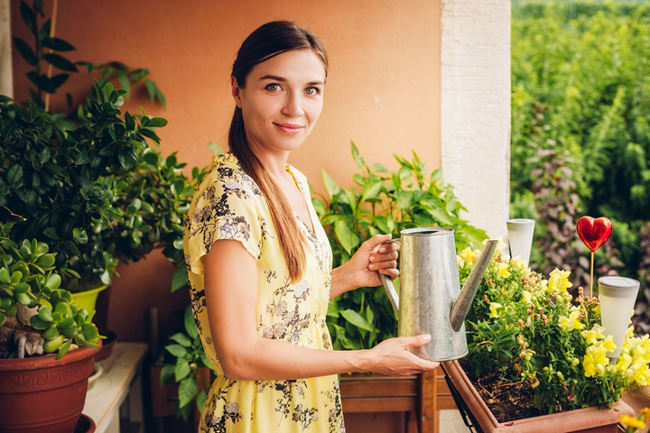 A balcony garden can spice up your condo design.