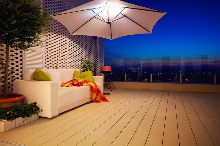 Equip your balcony room with lighting