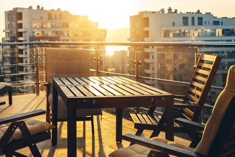 Decorate with modern balcony furniture.