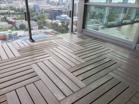 Quality flooring is one of the most important condo and apartment balcony ideas on a budget.