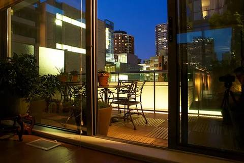 If you have the budget, balcony lights are great apartment or condo balcony ideas.